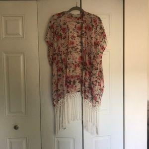 Tops - Floral bohemian kimono